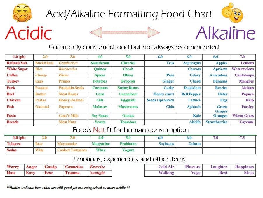 Acid and Alkaline Food Chart
