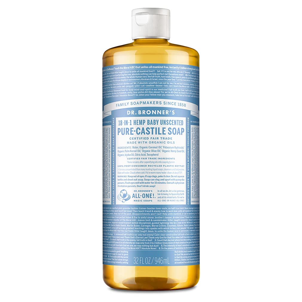 Dr. Bronner's Pure-Castile Soap, Baby Unscented
