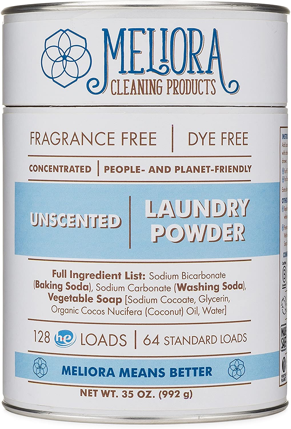 Meliora Cleaning Products, Laundry Powder, Unscented
